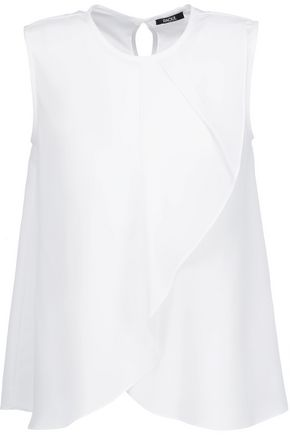 RAOUL Draped crepe de chine top