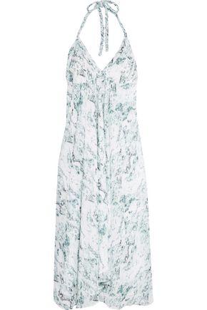 HEIDI KLEIN Halterneck printed chiffon midi dress