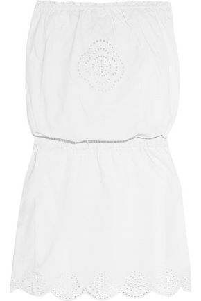 HEIDI KLEIN Embroidered cotton bandeau mini dress
