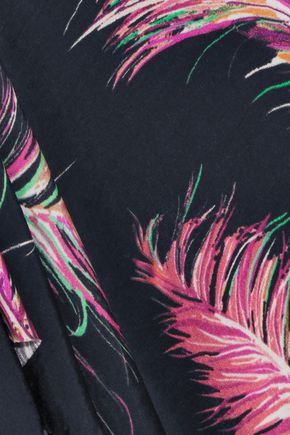 VIX Krishna Trisha printed jersey kaftan