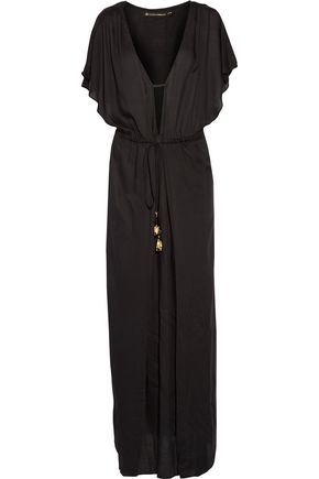 VIX Agatha draped crepe maxi dress