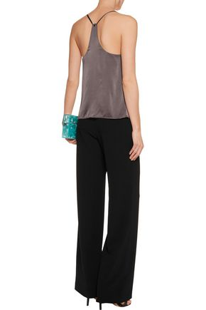 ALICE + OLIVIA Dasha draped washed silk-blend top