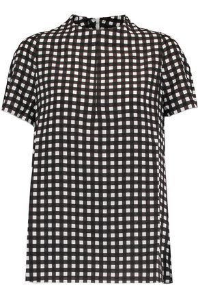 MARNI Checked silk top