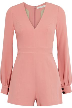 ALEXIS Kourtney crepe playsuit