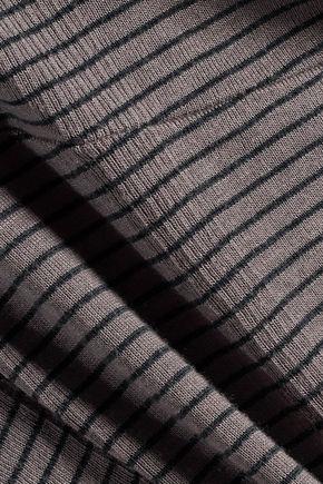 SPLENDID Striped jersey peplum top