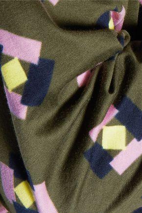 MARNI Printed cotton-jersey top