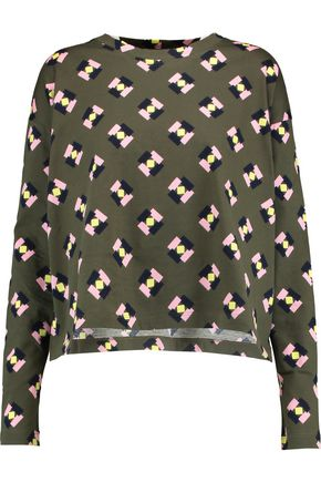 MARNI Printed cotton-jersey top