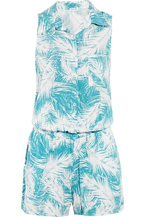 SPLENDID Printed crepe playsuit