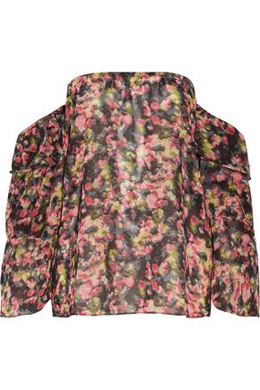 W118 by WALTER BAKER Patrick off-the-shoulder printed georgette blouse