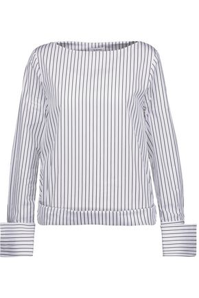 TOTÊME Lavarone striped cotton-poplin top