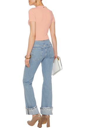 ALICE + OLIVIA Jazmine cropped stretch-knit top