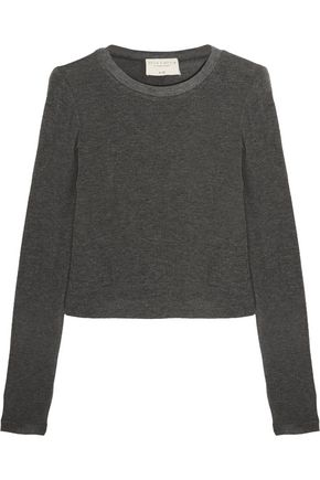 ALICE + OLIVIA Jaylene cropped stretch-knit top