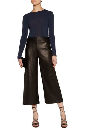ALICE + OLIVIA Jaylene cropped stretch-jersey top