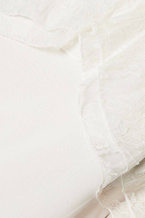 7d32280354145 Laticia cold-shoulder lace-trimmed chiffon top