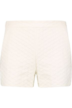 REDValentino Cotton-blend cloqué shorts