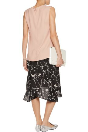 STELLA McCARTNEY Natalie wrap-effect crepe top