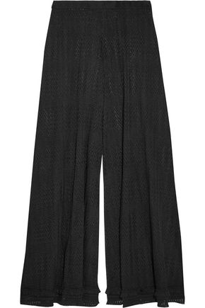 MISSONI Crochet-knit wide-leg culottes