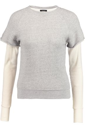 R13 Layered cotton and cashmere-blend sweater