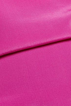 ROBERTO CAVALLI Embellished silk crepe de chine top