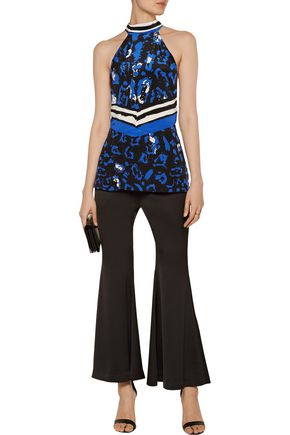 ROBERTO CAVALLI Printed silk-satin top