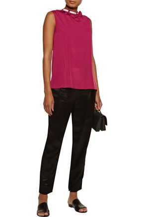 RAOUL Ruffled crepe top