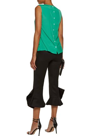 RAOUL Pintucked crepe top