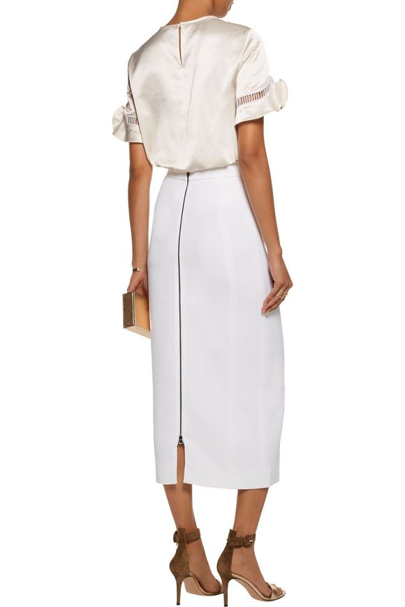 Lattice-trimmed cotton-blend top   RAOUL   Sale up to 70% off   THE OUTNET