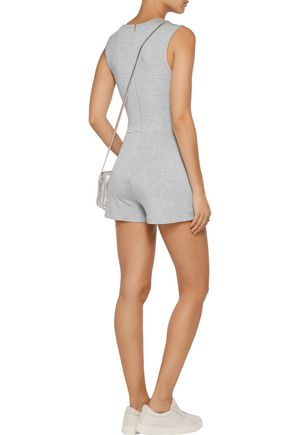 KAIN LABEL Pico striped stretch-jersey playsuit