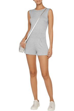 KAIN Pico striped stretch-jersey playsuit