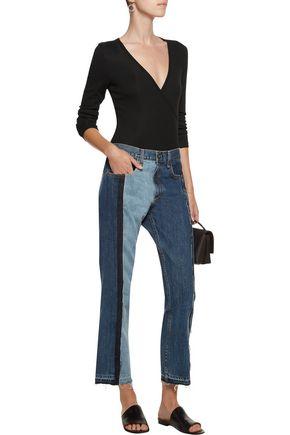 KAIN LABEL Rita wrap-effect ribbed-knit bodysuit