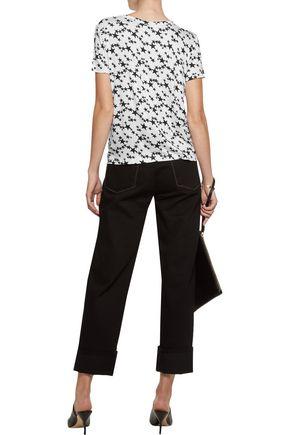 KAIN LABEL Sabine appliquéd striped stretch-modal T-shirt