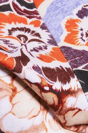JUST CAVALLI Printed cotton-blend sweatshirt