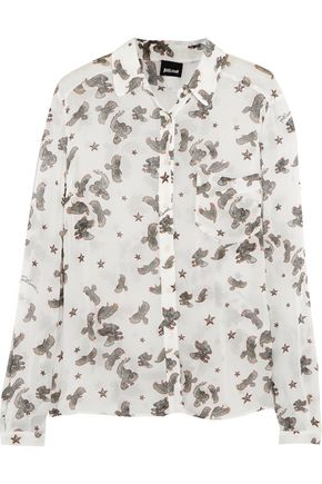JUST CAVALLI Printed georgette shirt