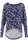 JUST CAVALLI Printed stretch-knit top