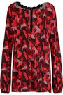 JUST CAVALLI Printed crepe top
