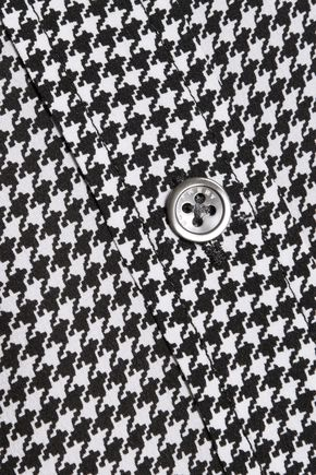 EQUIPMENT Houndstooth washed-silk shirt