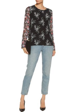 EQUIPMENT Liam floral-print silk blouse