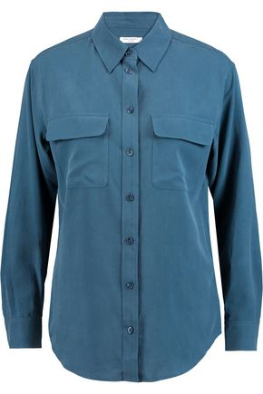 EQUIPMENT Signature brushed-silk shirt