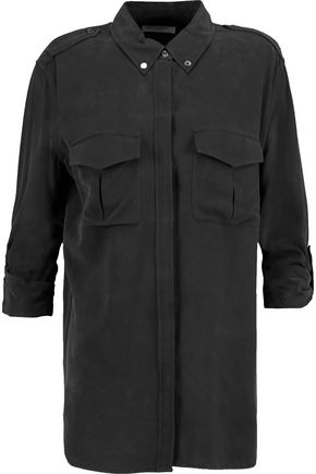EQUIPMENT FEMME Major washed-silk shirt