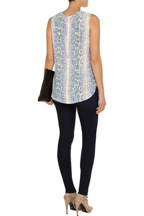 EQUIPMENT FEMME Lyle snake-print washed-silk top