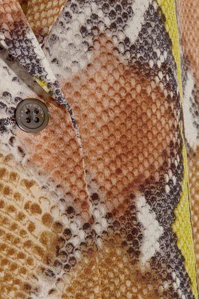 EQUIPMENT FEMME Adalyn snake-print washed-silk top