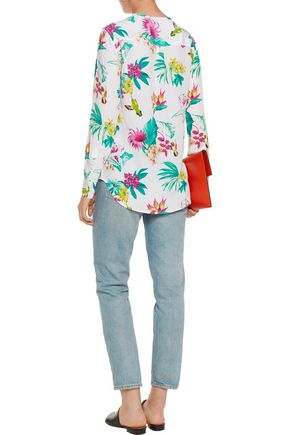 EQUIPMENT Lynn printed washed-silk blouse