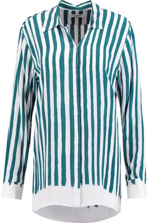 EQUIPMENT Philip striped washed-silk shirt
