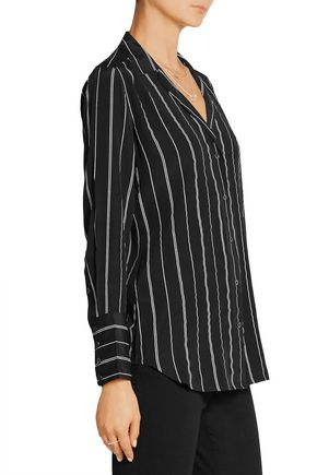 EQUIPMENT FEMME May striped washed-silk shirt