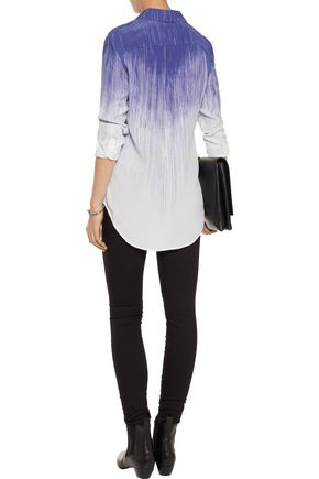 EQUIPMENT FEMME Reese printed silk crepe de chine shirt