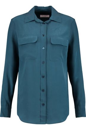 EQUIPMENT Slim Signature washed-silk shirt
