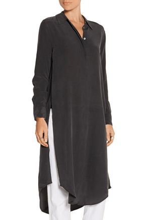 EQUIPMENT Pascal split-side washed-silk tunic