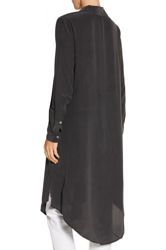 Pascal split-side washed-silk tunic | EQUIPMENT | Sale up to 70% off | THE  OUTNET