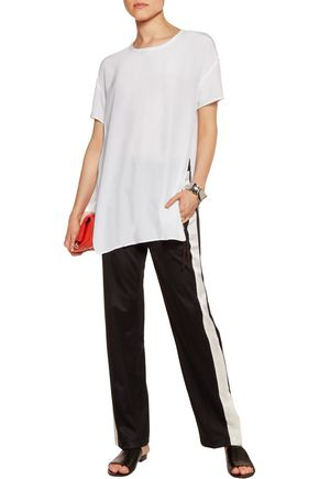 EQUIPMENT FEMME Riley oversized silk crepe de chine top
