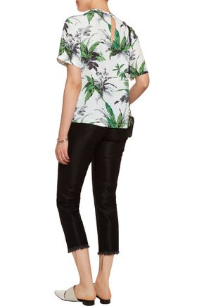 EQUIPMENT Logan printed washed-silk top